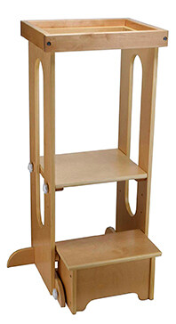 torre de aprendizaje explore n store madera